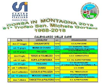 Calendario Csi.Parte Il 27 Maggio Il 51 Trofeo Gortani Csi Centro