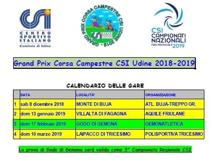 Calendario Csi.Parte Il Grand Prix Corsa Campestre Csi Udine Il Via L 8