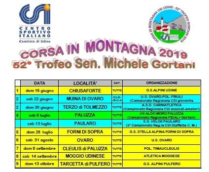 Calendario Csi.Parte Il 16 Giugno Il 52 Trofeo Gortani Csi Csi Centro